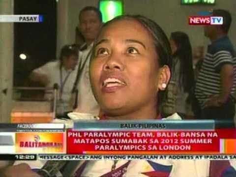 BT: PHL Paralympic Team, balik-bansa nang sumabak sa 2012 Summer Paralympics sa London