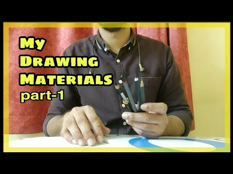 Drawing Materials For Realistic Drawing | Part-1 | My Materials