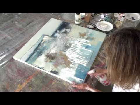 Acryl Abstrakt   Strukturen - structures - acrylic painting abstract
