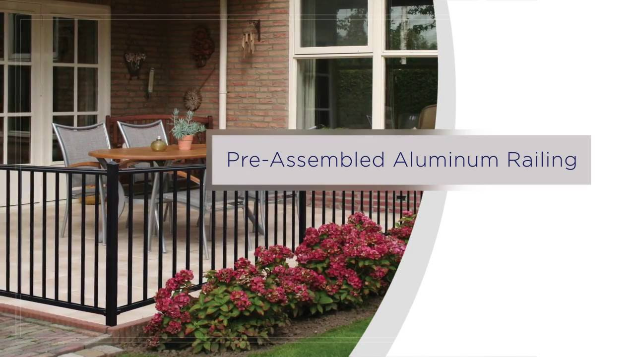 freedom pre assembled aluminum railing installation overview