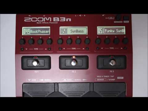 ZOOM B3N B3next Multi-Effects Processor for Bass PATCH 046-054