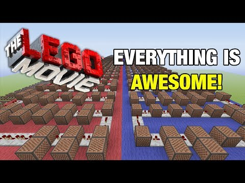"The LEGO Movie Everything Is Awesome! - Minecraft Xbox ""NoteBlock Song"""