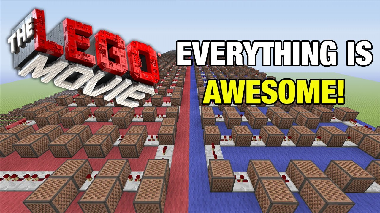 the lego movie everything is awesome minecraft xbox