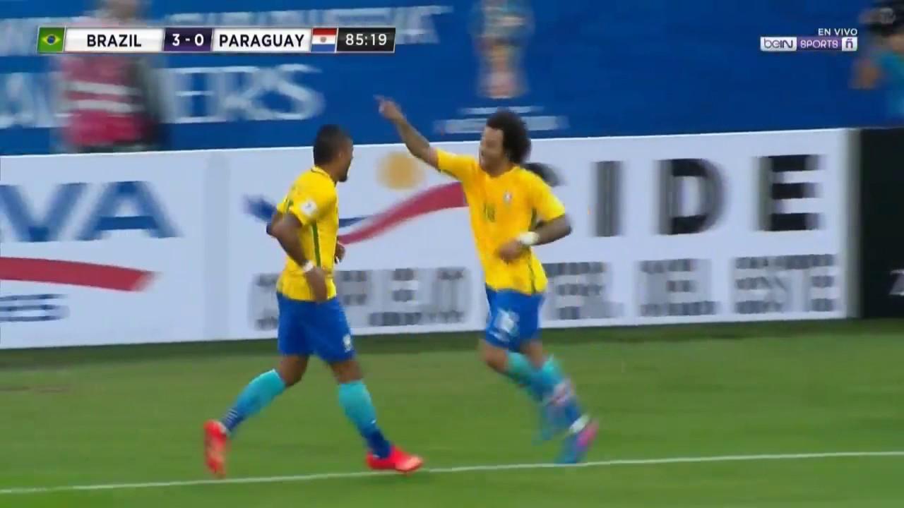 Download BRAZIL VS PARAGUAY 3 0 GOAL Marcelo 28 03 2017 HD