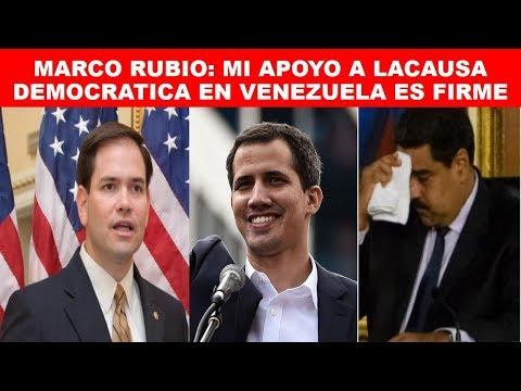 VENEZUELA MENSAJE DE MARCO RUBIO AL PUEBLO VENEZOLANO