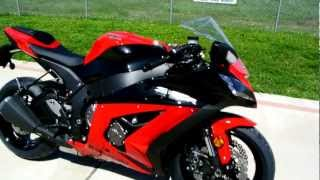 Overview and Review of the 2012 Kawasaki ZX10R Ninja Red Black
