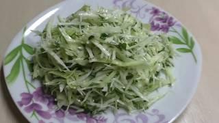 Вкусный Полезный Диетический Салат Из Свежей Капусты С Зеленью