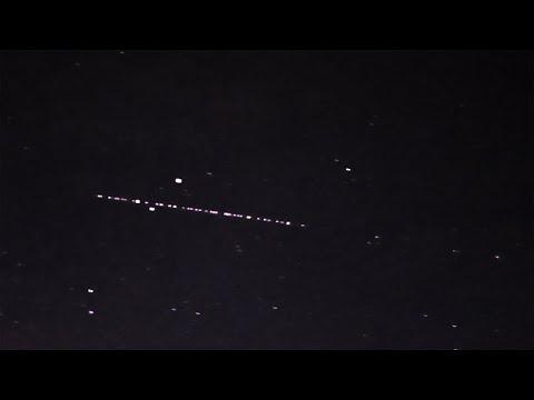 Спутники Starlink в небе над Уралом 26 ма� 2019 года