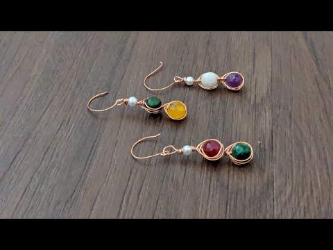 Making beautiful wire wrapped earrings/diy earrings