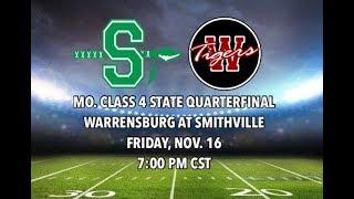 Warrensburg Tigers at Smithville Warriors / High School Football Playoffs 11-16-18