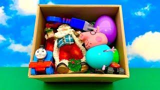 बच्चों के लिए खिलौना बॉक्स, peppa सुअर, क्रिसमस ⛄️ Toy Box for Kids, Santa and Peppa