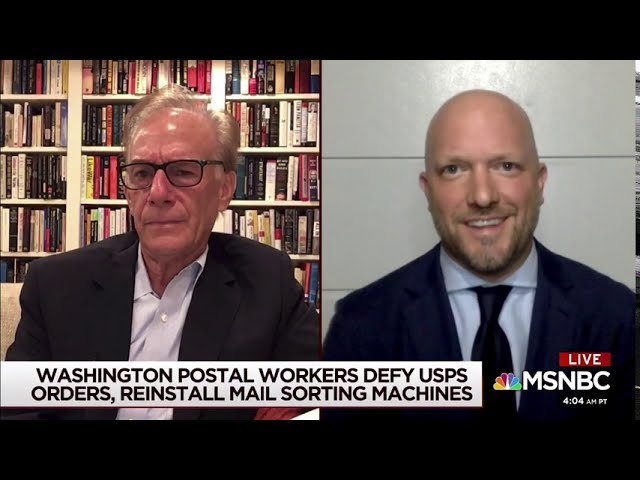 RIECKHOFF ON MORNING JOE - DEFENDING USPS - AUGUST 21, 2020