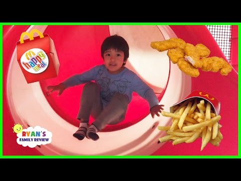 Thumbnail: Family Fun Time at McDonald's Indoor Playground! Happy meal toy surprise with Ryan's Family Review