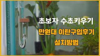 초보수초키우기에 만원대 이탄 설치 후기!