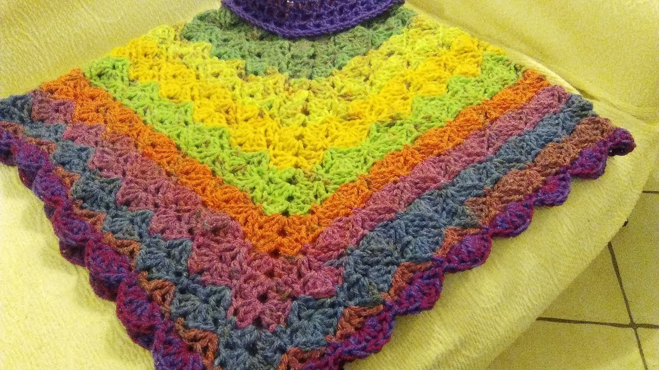 Crochet Poncho Any Size Adult Or Child Tutorial Youtube
