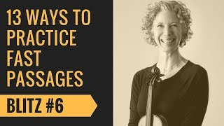 Violin Fast Passages Practice #6 Articulation