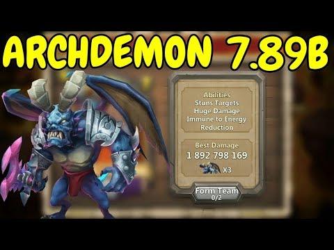 Archdemon L Stuns Targets Huge Damage L 7.89B L Castle Clash
