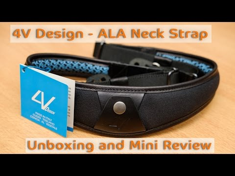 4V Design - ALA Leather Camera Neck Strap Unboxing and Mini Review