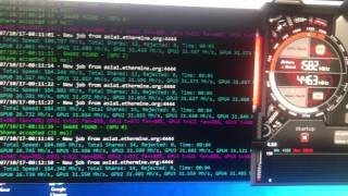 Zotac Nvidia 1070 8gb 31,5 mh/s Ethereum Hash Rate
