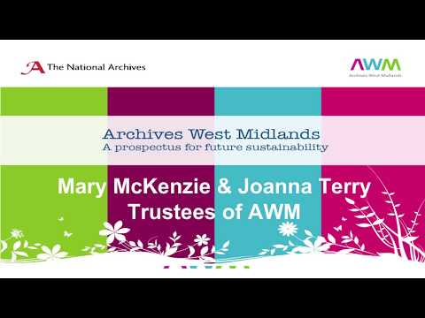 DCDC17 | Archives West Midlands: Collaboration for advocacy and sustainability - AWM