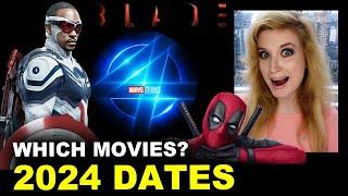 MCU 2024 Release Dates - Deadpool 3, Fantastic Four, Captain America 4, Blade?