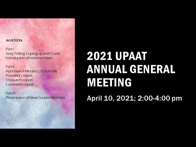 Watch the second Virtual Annual General Meeting held on April 10, 2021!