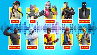 ALL Boss and Character Voicelines in Fortnite (Season 2 and 3)