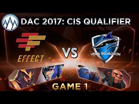 Effect Vs Vega Game 1 - DAC 2017 CIS Qualifier: Playoffs - @LyricalDota @LacosteDota