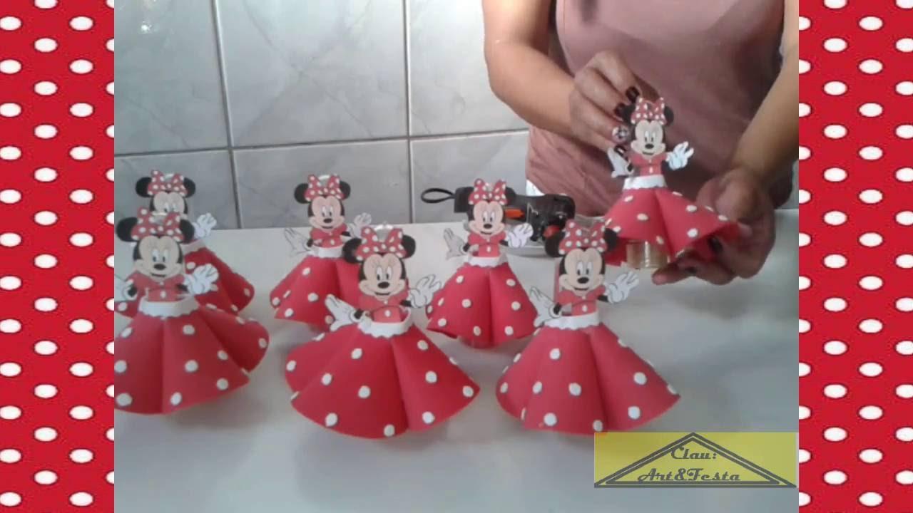 Mesa Decorada Minnie Rosa