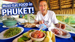 Eating 21 SPICY THAI FOODS in One Day!! | 3 MUST-EAT Restaurants in Phuket, Thailand!