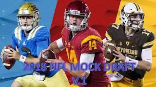 2018 NFL MOCK DRAFT V1 Free HD Video