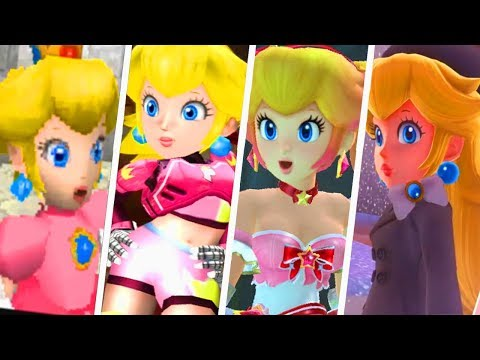 Evolution of Princess Peach Costumes (1985 - 2019)