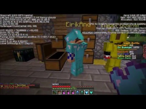 Minecraft bank battle- Norsk minecraft! Funny Moments!