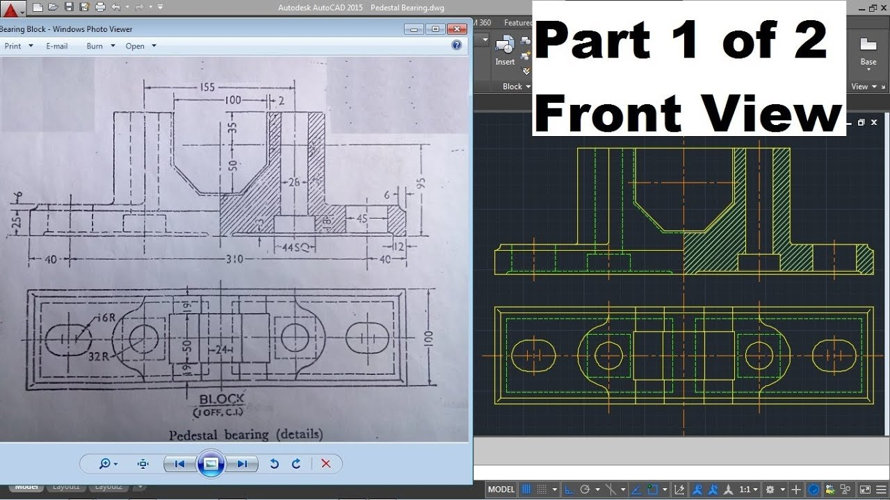 autocad difficult complicated drawing for mechanical. Black Bedroom Furniture Sets. Home Design Ideas