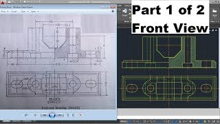 AutoCAD Difficult Complicated Drawing for Mechanical Engineering | Reading Engineering Drawing