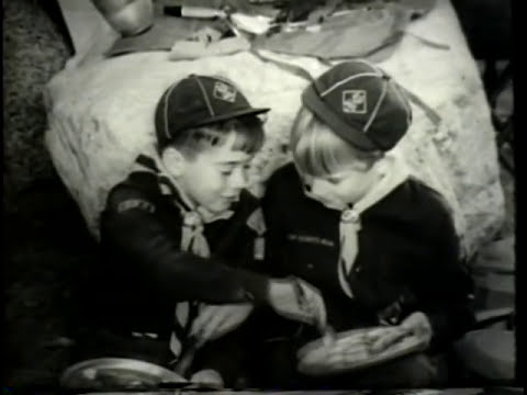 Vintage Aunt Jemima Pancake Commercial with group of Boy Scouts