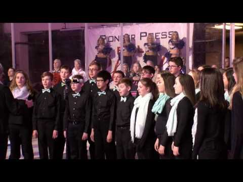 Lucile Erwin Middle School Choir sings the National Anthem