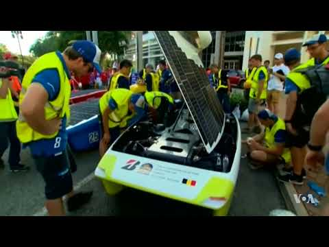 Cross Continent Solar Car Race Sets Grueling Pace