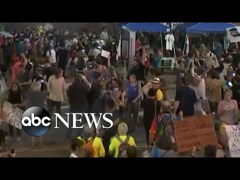 Crowd turns disorderly after President Trump's rally in Phoenix