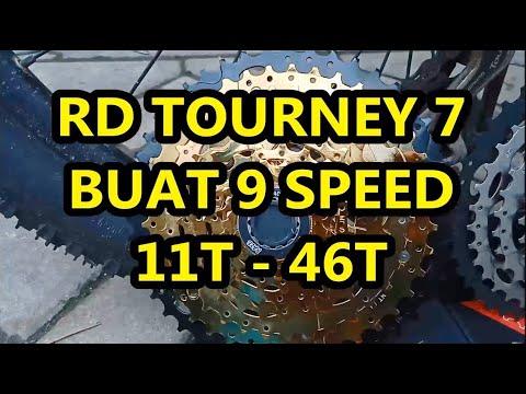 rd tourney 7 speed bisa 9 speed 11-46T