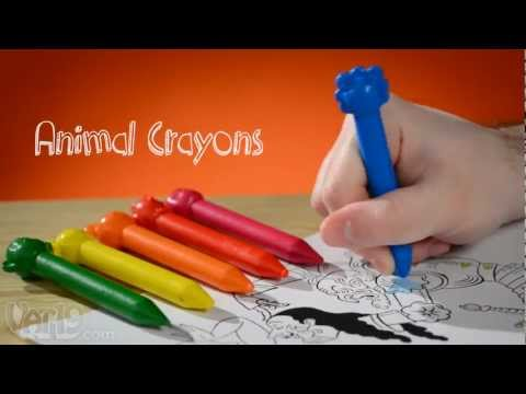Animal Crayons: Cute crayons won't flake, can be erased