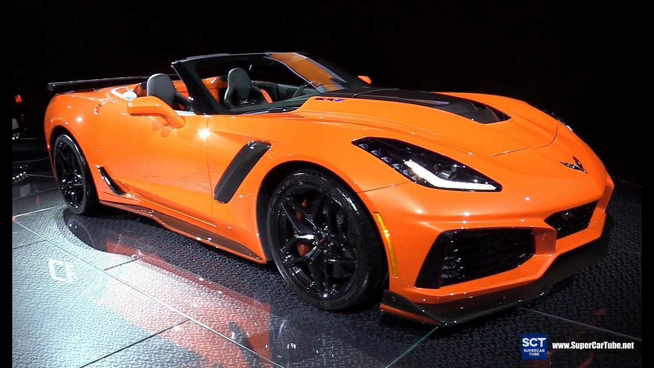 2019 Chevrolet Corvette Zr1 Convertible Exterior Interior Walkaround Debut At 2017 La Auto Show