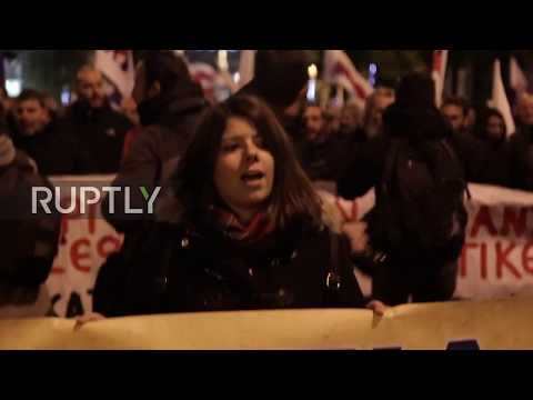 Greece: Hundreds protest first post-bailout budget in Athens