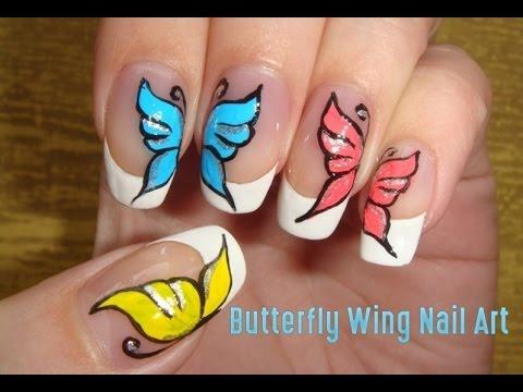 Erfly Wing Nail Art Video Tutorial