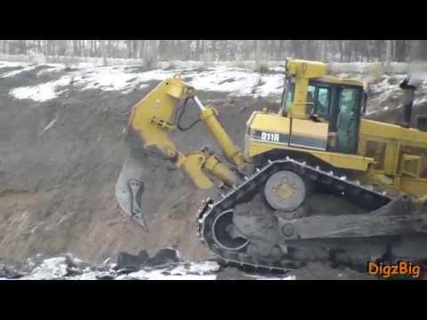 CAT D11R Vs Frozen Ground