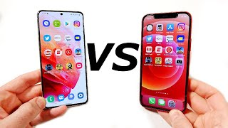 Galaxy S21 vs iPhone 12 Speed Test!