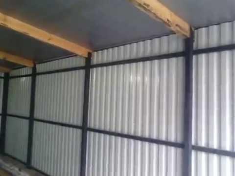видео: Гараж из профнастила. Своими руками. (garage of corrugated)