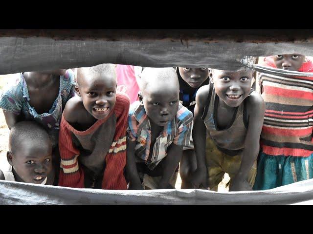 Providing supplies to South Sudan refugees at Bidi bidi refugee camp in Northern Uganda