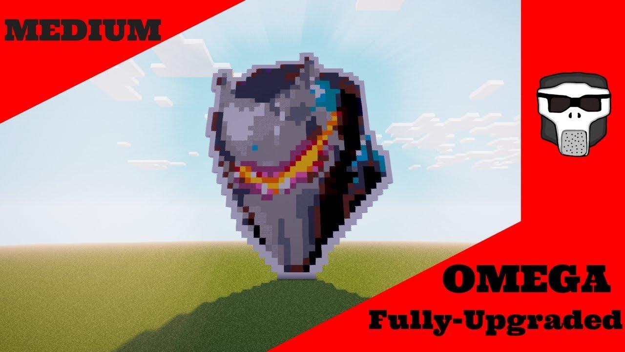 Fully Upgraded Omega Pixel Art Tutorial Minecraft