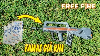 Chế Tạo Súng FAMAS Giả Kim Bằng Xi Măng Nặng 15 Kg Kinh Khủng Bố | Free Fire